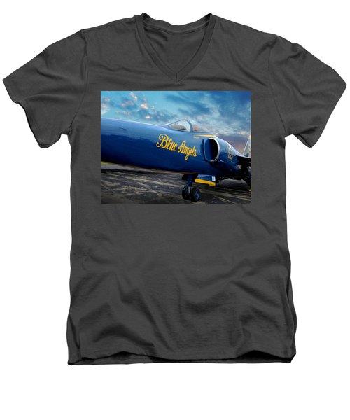 Blue Angels Grumman F11 Men's V-Neck T-Shirt