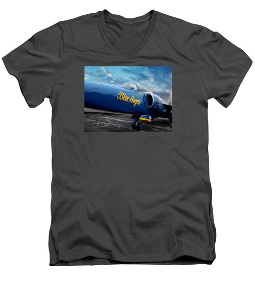 Blue Angels Grumman F11 Men's V-Neck T-Shirt
