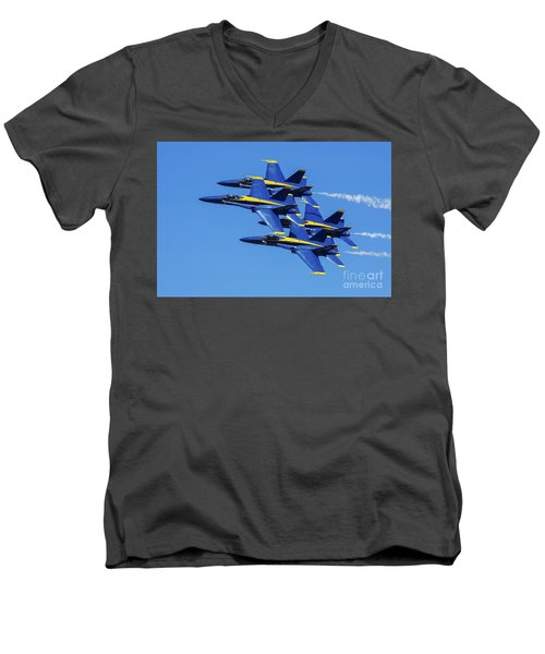 Blue Angels Very Close Formation 1 Men's V-Neck T-Shirt