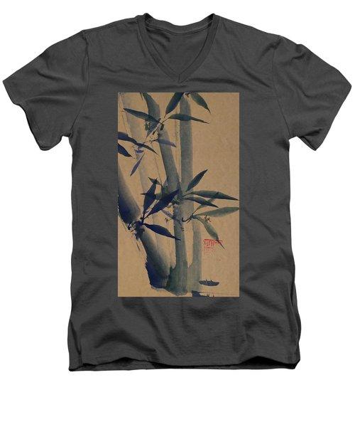Blue Bamboo Men's V-Neck T-Shirt