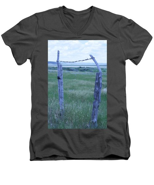 Blue Barbwire Men's V-Neck T-Shirt