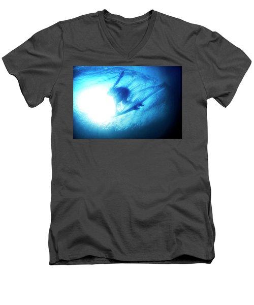Blue Barrel Men's V-Neck T-Shirt