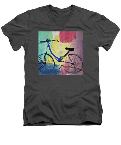 Blue Bicycle Men's V-Neck T-Shirt