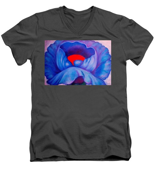 Blue Bloom Men's V-Neck T-Shirt