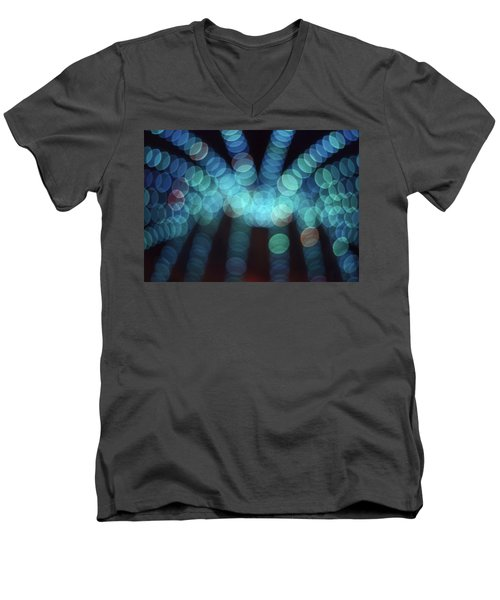 Men's V-Neck T-Shirt featuring the photograph Blue Boogie by Laurie Stewart
