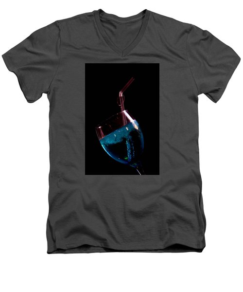 Men's V-Neck T-Shirt featuring the photograph Blue But by Jez C Self