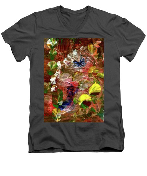 Blue Butterfly Jungle Men's V-Neck T-Shirt