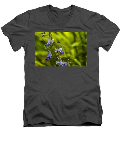 Blue Butterfly Men's V-Neck T-Shirt