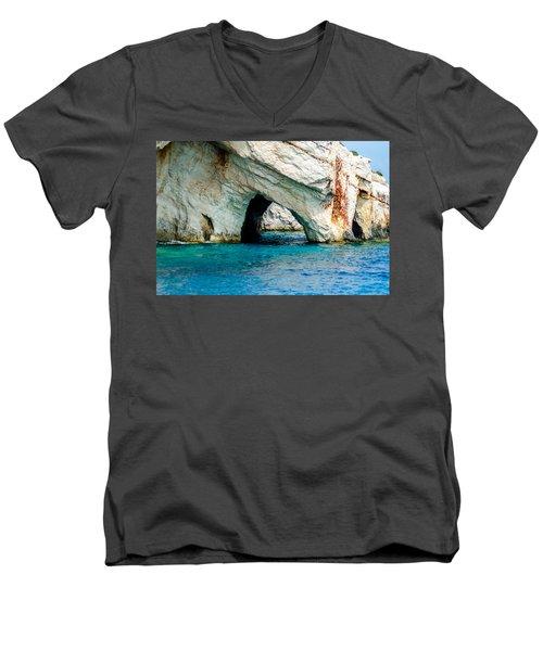 Blue Cave 4 Men's V-Neck T-Shirt by Rainer Kersten