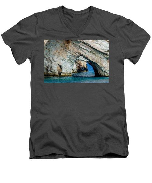 Blue Caves 1 Men's V-Neck T-Shirt by Rainer Kersten