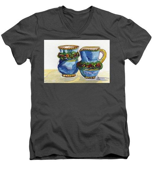 Blue Cream And Sugar Men's V-Neck T-Shirt