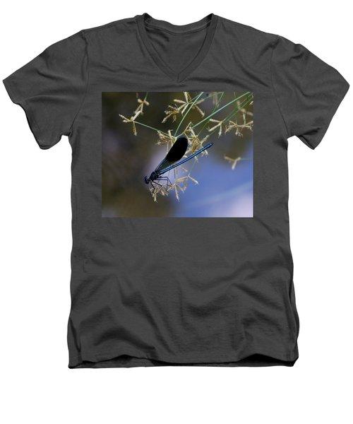 Blue Damsfly Men's V-Neck T-Shirt