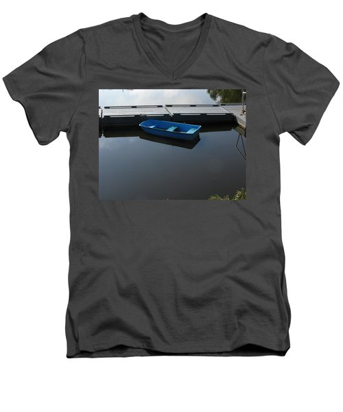 Blue Dinghy Quiet Waters Men's V-Neck T-Shirt