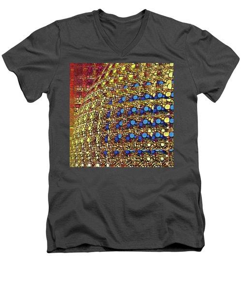 Blue Dots Men's V-Neck T-Shirt