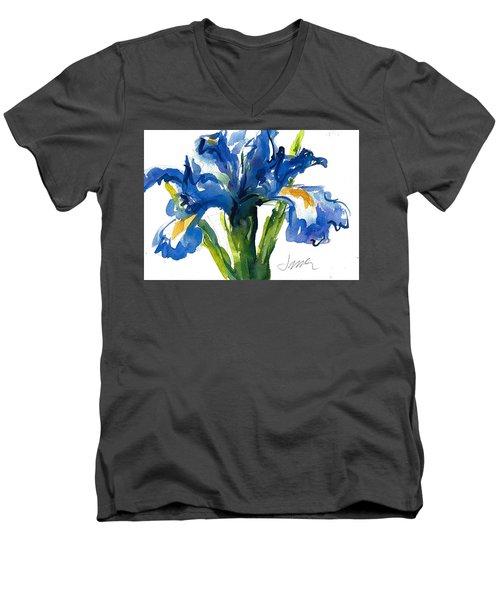 Blue Dutch Iris For Kappa Kappa Gamma Men's V-Neck T-Shirt