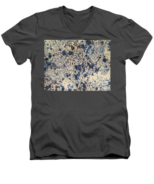 Blue Ecru Men's V-Neck T-Shirt