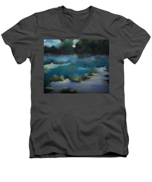 Blue Eden Men's V-Neck T-Shirt