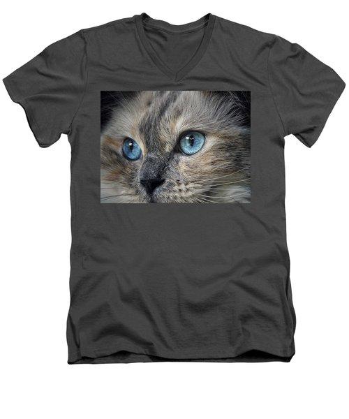 Blue Eyed Girl Men's V-Neck T-Shirt by Karen Stahlros