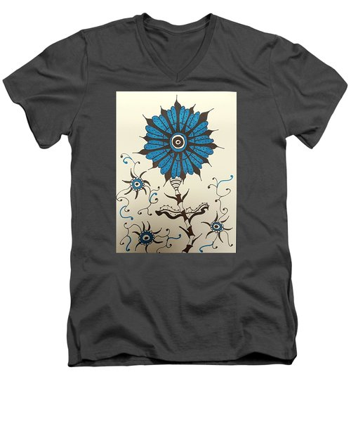 Blue Flower 1 Men's V-Neck T-Shirt