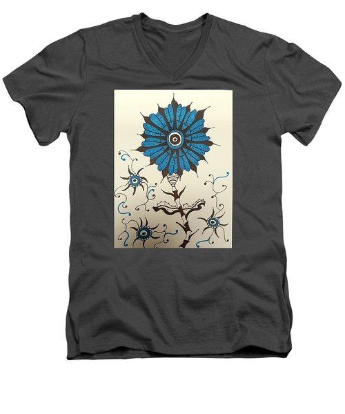 Blue Flower 1 Men's V-Neck T-Shirt