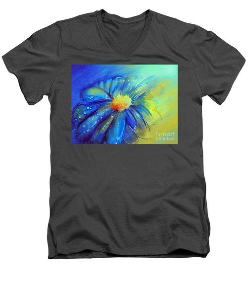 Blue Flower Offering Men's V-Neck T-Shirt