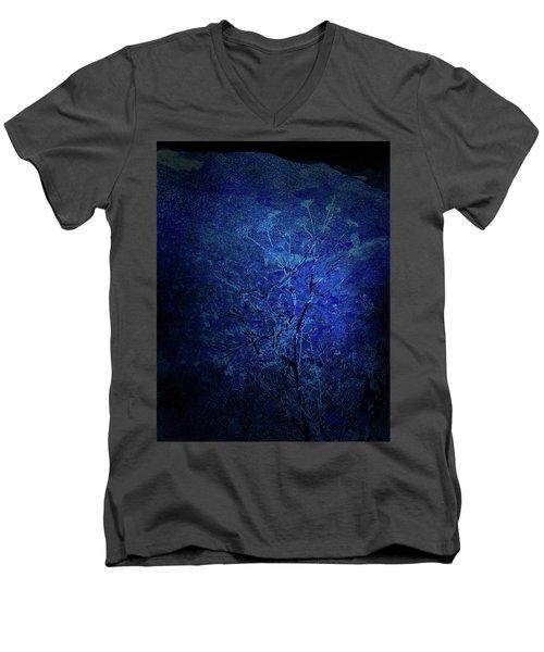 Blue Flowers Men's V-Neck T-Shirt