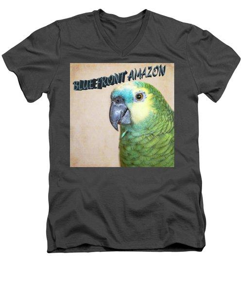 Blue Front Amazon Men's V-Neck T-Shirt