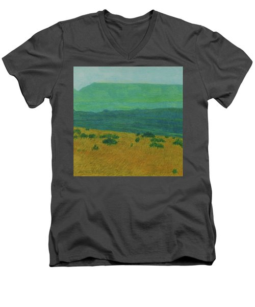 Blue-green Dakota Dream, 1 Men's V-Neck T-Shirt