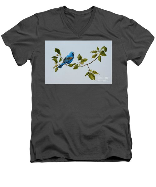 Blue Grosbeak Men's V-Neck T-Shirt