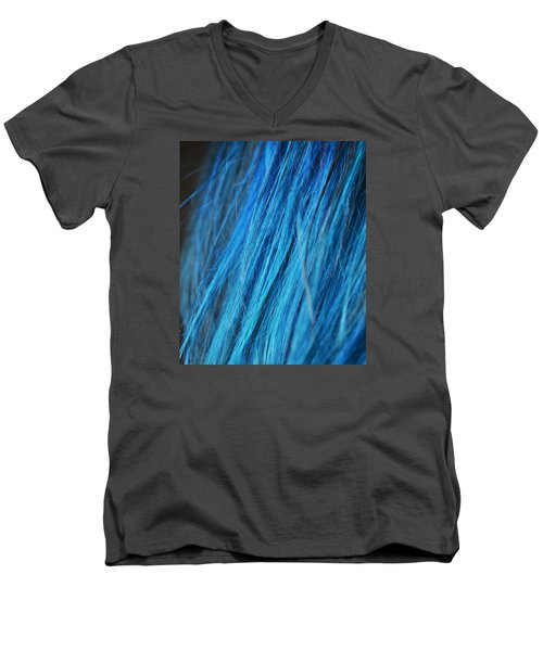 Blue Hair Men's V-Neck T-Shirt