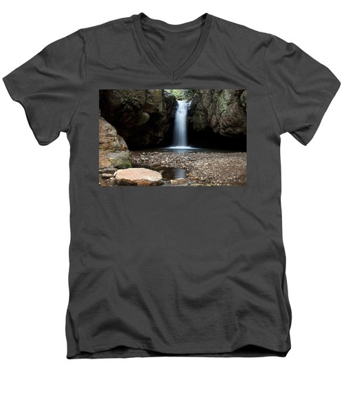 Men's V-Neck T-Shirt featuring the photograph Blue Hole In Spring #2 by Jeff Severson