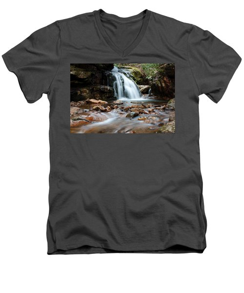 Men's V-Neck T-Shirt featuring the photograph Blue Hole In Spring #3 by Jeff Severson