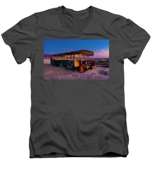 Blue Hour Bus Men's V-Neck T-Shirt
