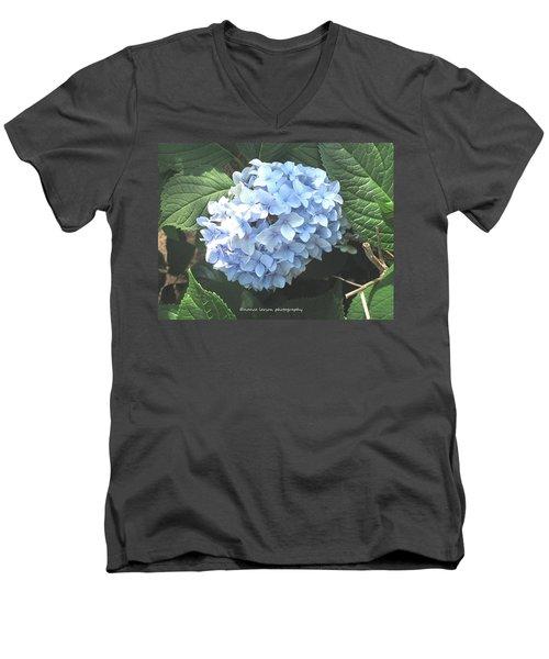 Blue Hydrangnea Men's V-Neck T-Shirt by Nance Larson