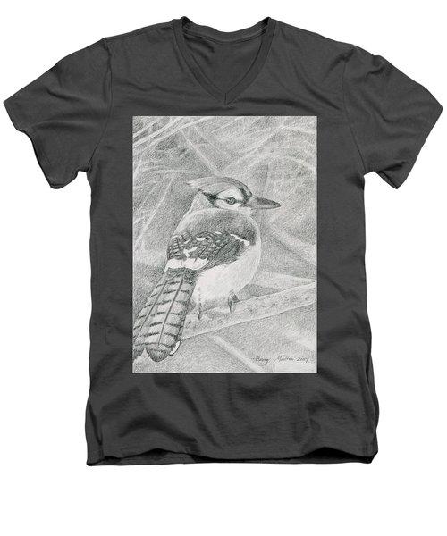 Blue Jay Men's V-Neck T-Shirt