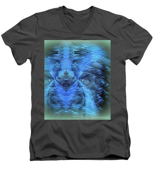 Blue Kitty Men's V-Neck T-Shirt