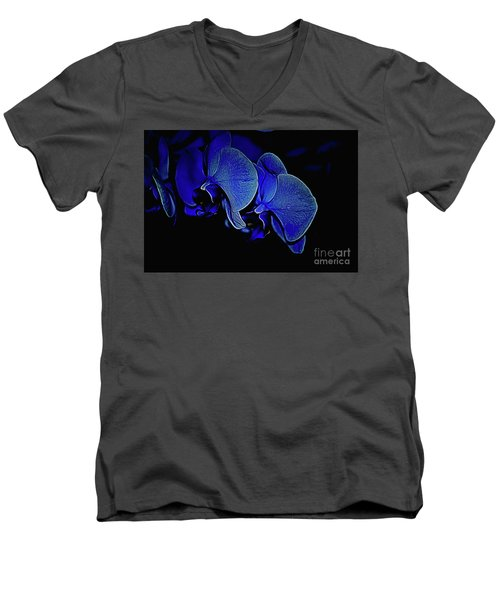 Blue Light Men's V-Neck T-Shirt by Diana Mary Sharpton