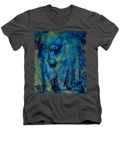 Blue Light Men's V-Neck T-Shirt