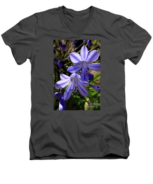 Blue Lily Men's V-Neck T-Shirt