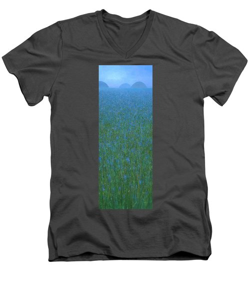 Blue Meadow 1 Men's V-Neck T-Shirt