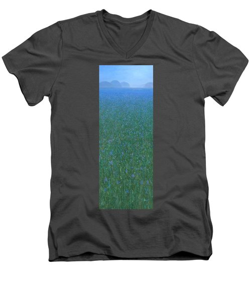 Blue Meadow 2 Men's V-Neck T-Shirt by Steve Mitchell