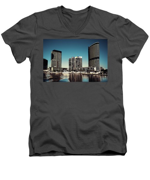 Blue Melbourne Men's V-Neck T-Shirt