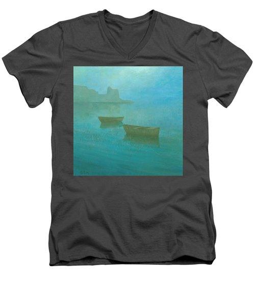 Blue Mist At Erbalunga Men's V-Neck T-Shirt