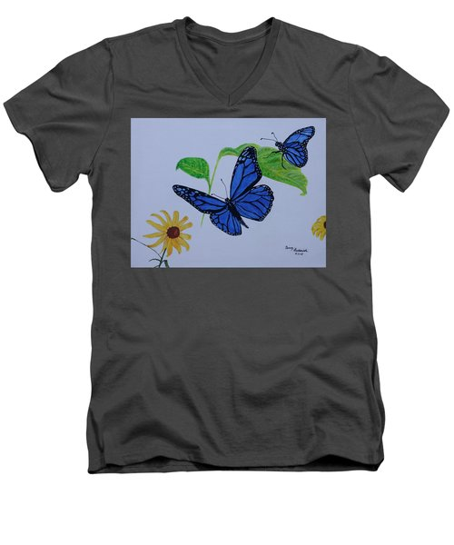 Blue Monarch Men's V-Neck T-Shirt