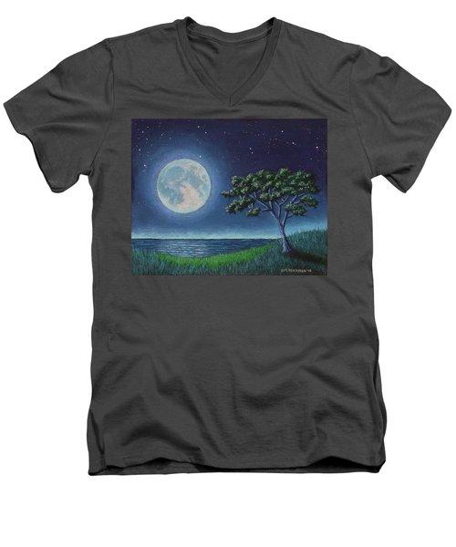 Blue Moon 01 Men's V-Neck T-Shirt