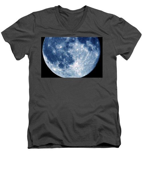 Blue Moon 7-31-15 Men's V-Neck T-Shirt