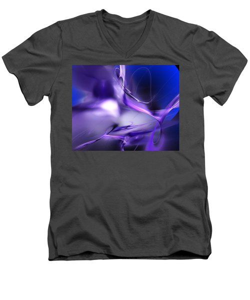 Blue Moon And Wine Spirits Men's V-Neck T-Shirt
