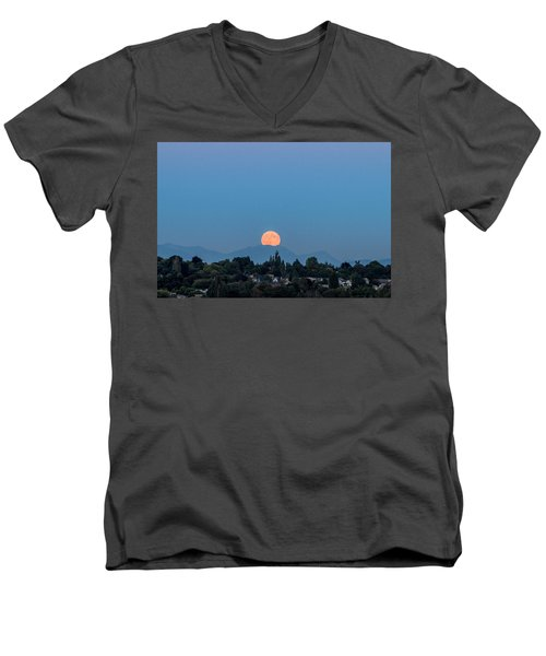 Blue Moon.2 Men's V-Neck T-Shirt by E Faithe Lester