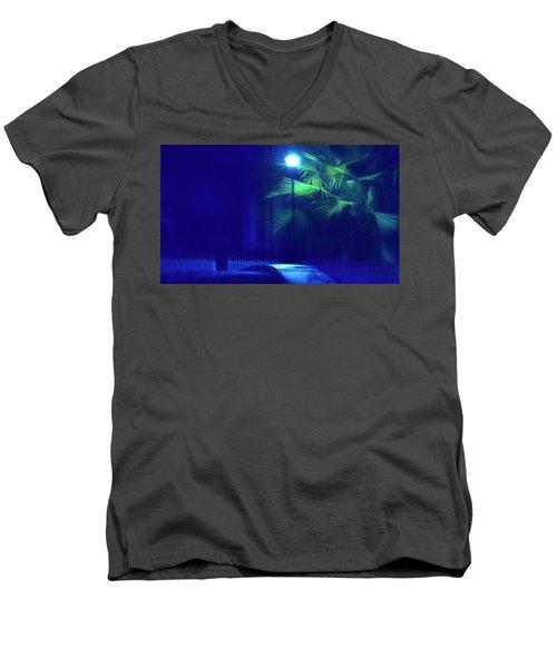 Blue Morning Men's V-Neck T-Shirt by Glenn Gemmell