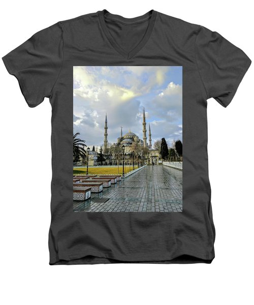 Blue Mosque Men's V-Neck T-Shirt